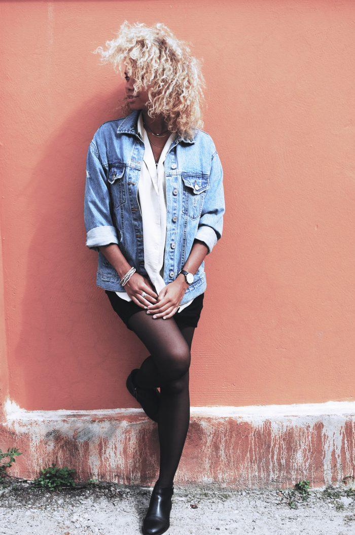 Blog look femme avec chemise franges