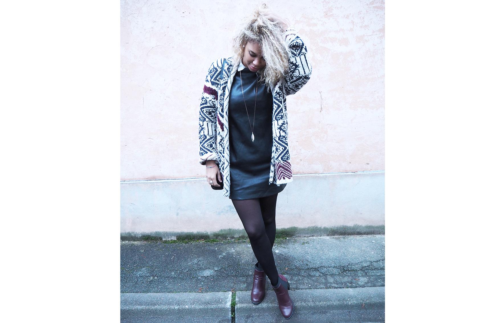 Bottines bordeaux à talon : comment s'habiller demain, look d'hiver