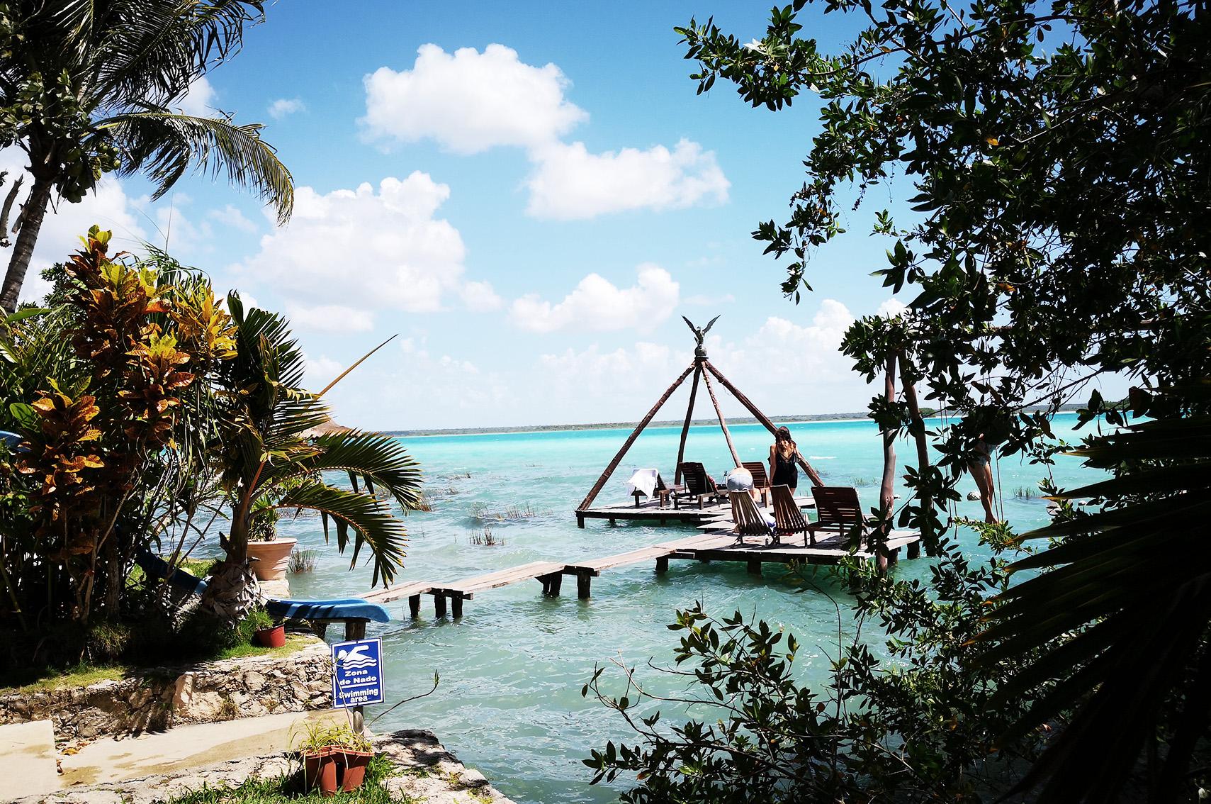 A voir au Mexique : laguna de Bacalar