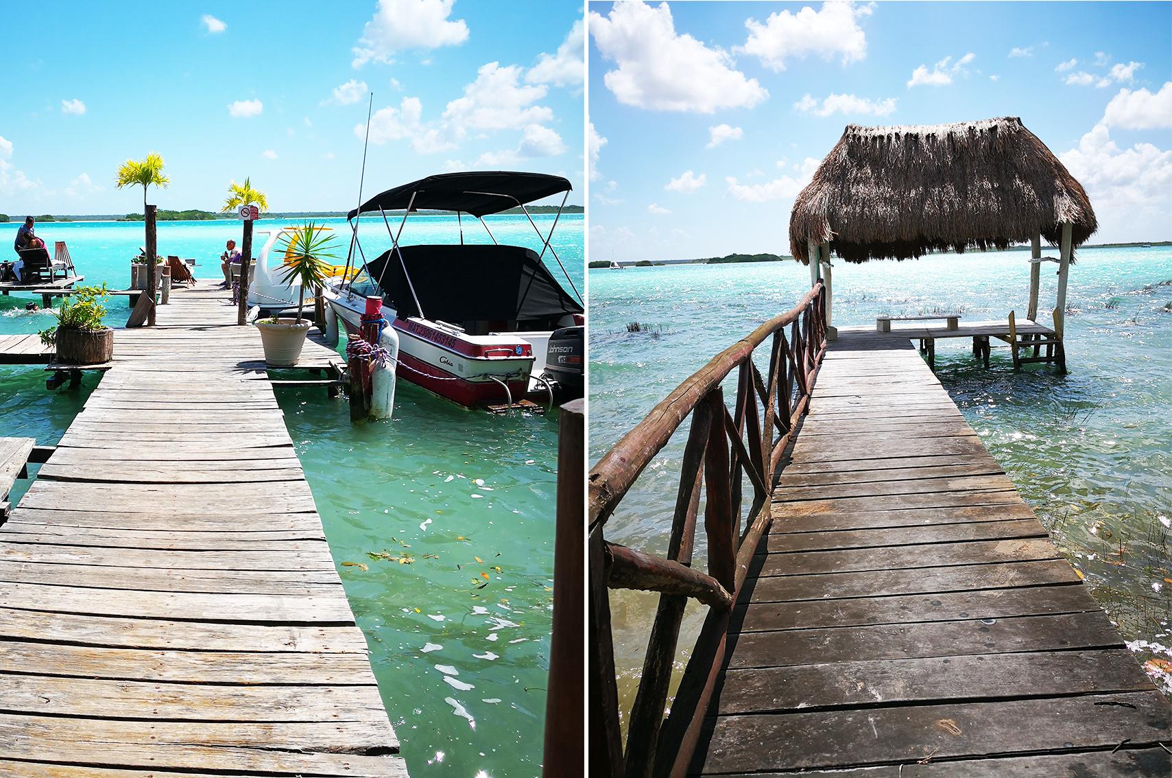 Ou aller au Mexique : laguna de Bacalar
